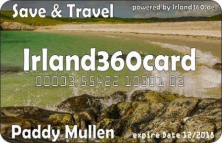 Irland360card die Karte für Deine Rundreise auf der grünen Insel